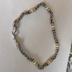 David Yurman Authentic 15 inch necklace w pearls
